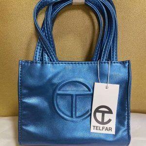 Telfar Small Bright Blue Shopping Bag